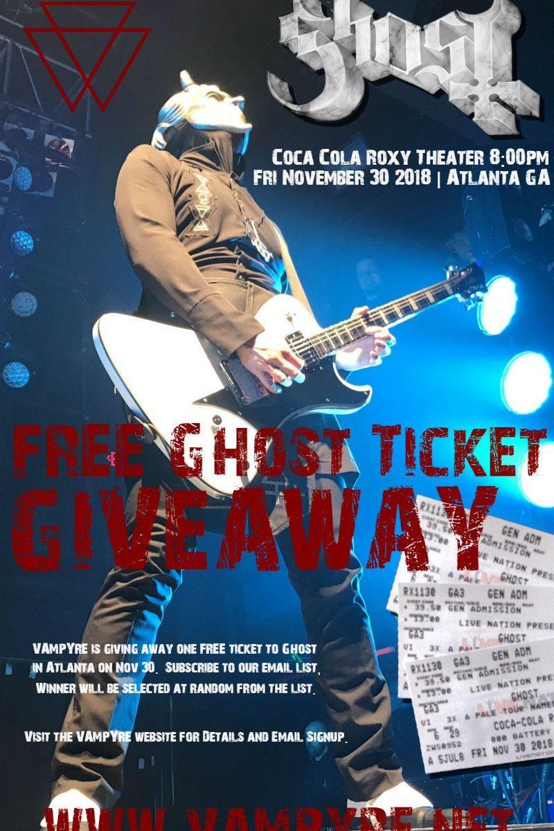 FREE Ghost Ticket Giveaway