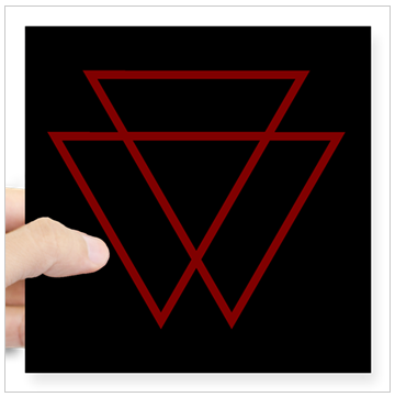 VAMPYRE Square Sticker