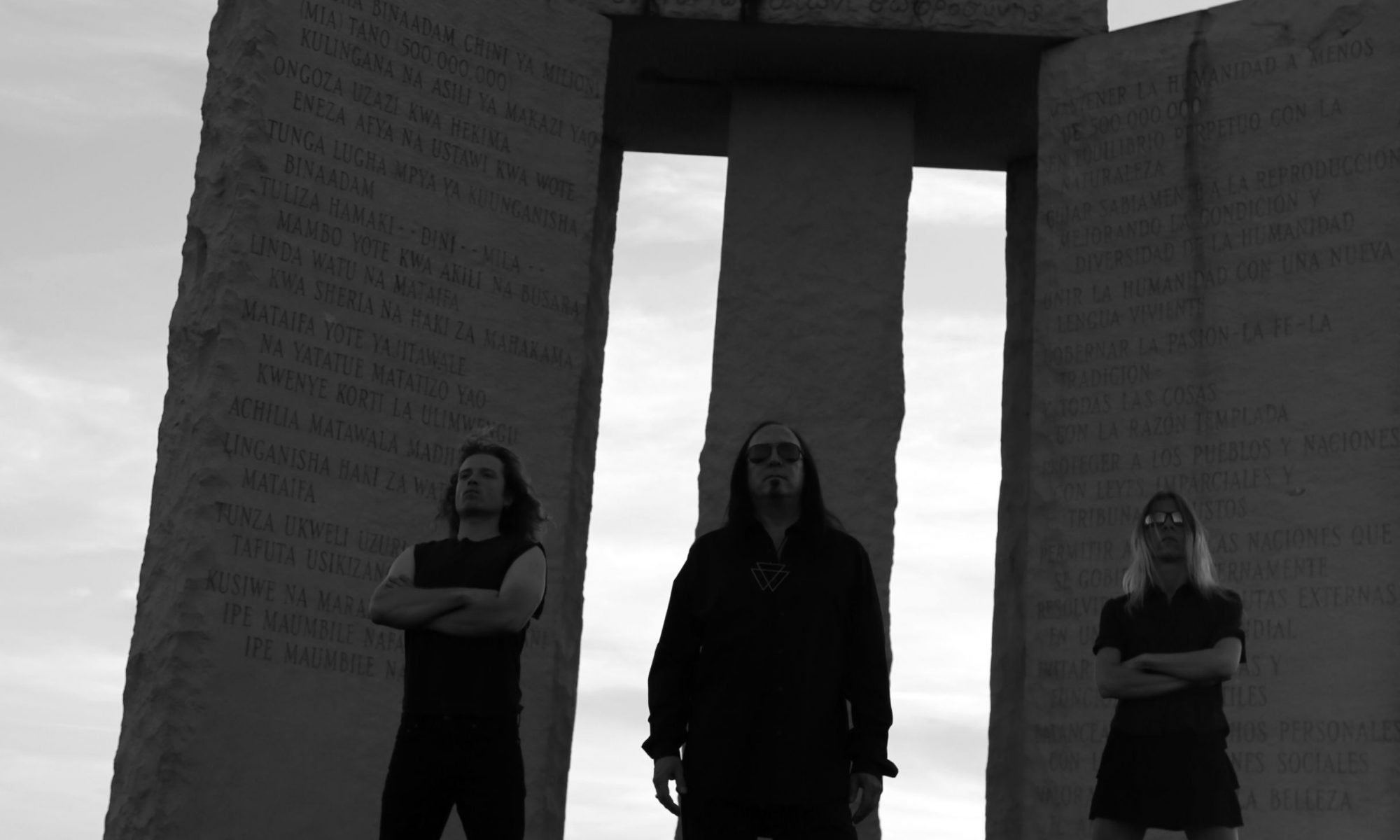 Georgia Guidestones VAMPYRE Band Photoshoot